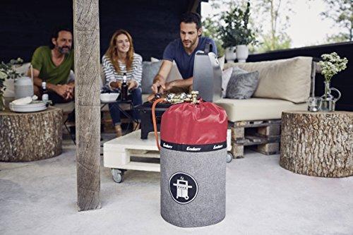 51oDq5AHczL - Enders Gasflaschenhülle Style Red 5116, Gasflasche Grill-Abdeckung 11 kg, Keine Rostränder durch Silikonfüße, feuerfest, UV-Schutz
