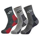 innotree 3 Pack Men's Full Cushioned Hiking Walking Socks, Quarter Crew Socks
