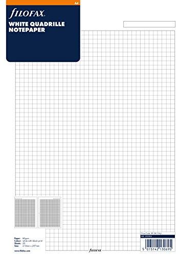 Filofax 292905 Notizpapier A4, kariert, weiß