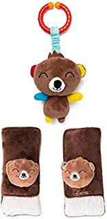Diono Baby Harness Soft Wrap & Linkie Toy, Bear