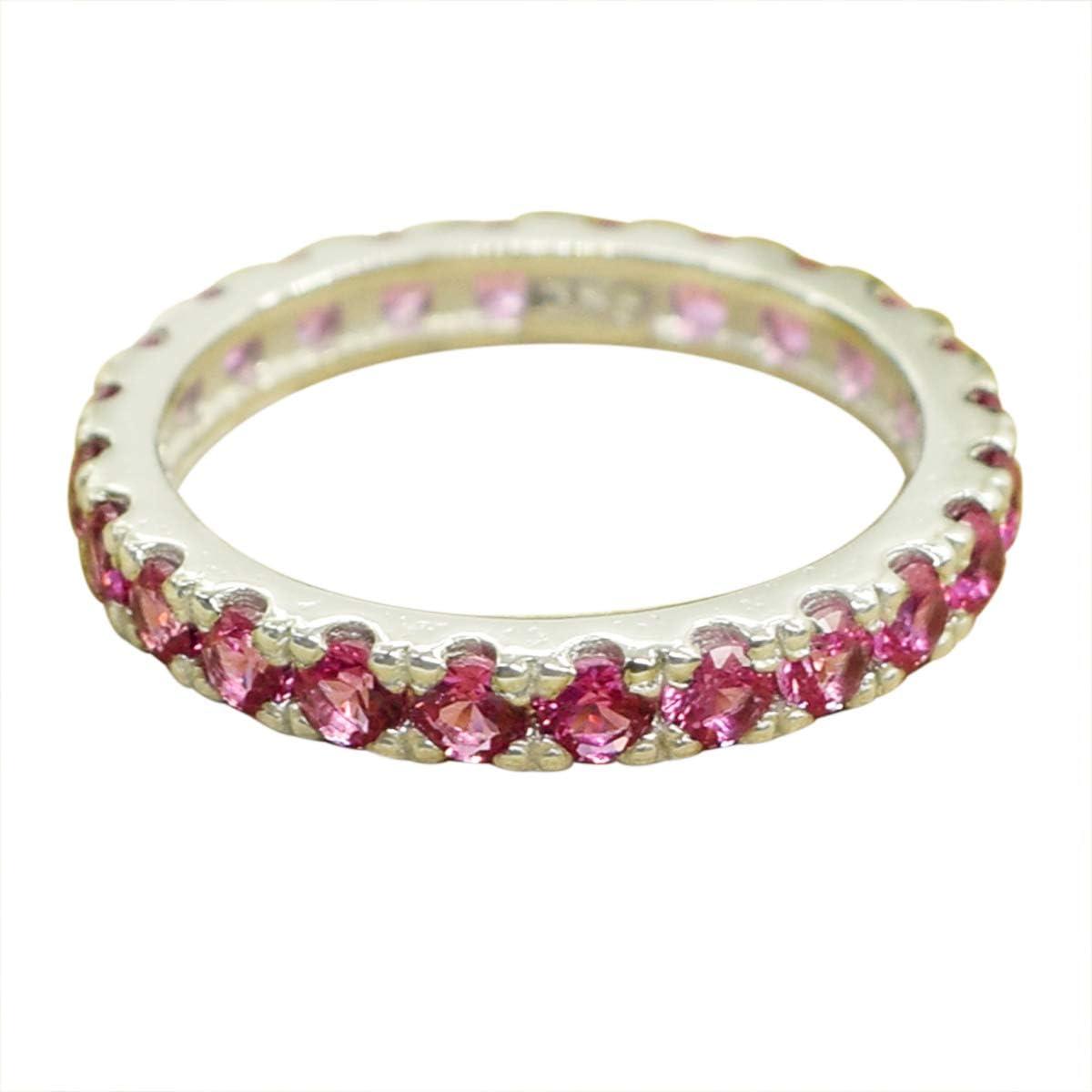 Elegant Design Round Pink Sapphire Kansas City Mall 925 Sterling Silver Max 83% OFF Designer