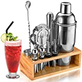 Cocktail Shaker Set Bartender Kit, NICEAO 14-Piece Bar Kit with 25oz Martini Shaker, Mixin...