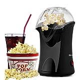 Popcorn Popper, Hot Air Popcorn Popper 1200W Popcorn Machine Electric Popcorn Maker with Measuring...
