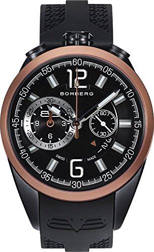 Bomberg Herren Chronograph Quarz Uhr mit Silikon Armband NS44.0092