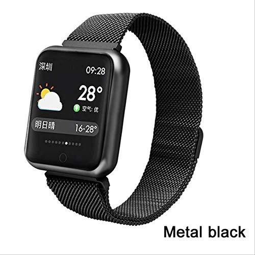 Zholei praktische smartwatchsmart armband multi-sportarmband waterdicht IP68 activiteitstracker hartslagmeter smartwatch mannen vrouwen Pk Q9 horloge (kleur: silicone grijs)