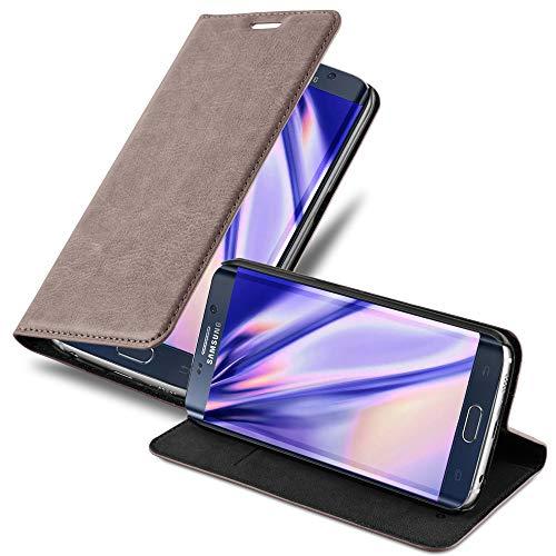 Cadorabo Custodia Libro per Samsung Galaxy S6 EDGE PLUS in BRUNO CAFÉ - con Vani di Carte, Funzione Stand e Chiusura Magnetica - Portafoglio Cover Case Wallet Book Etui Protezione
