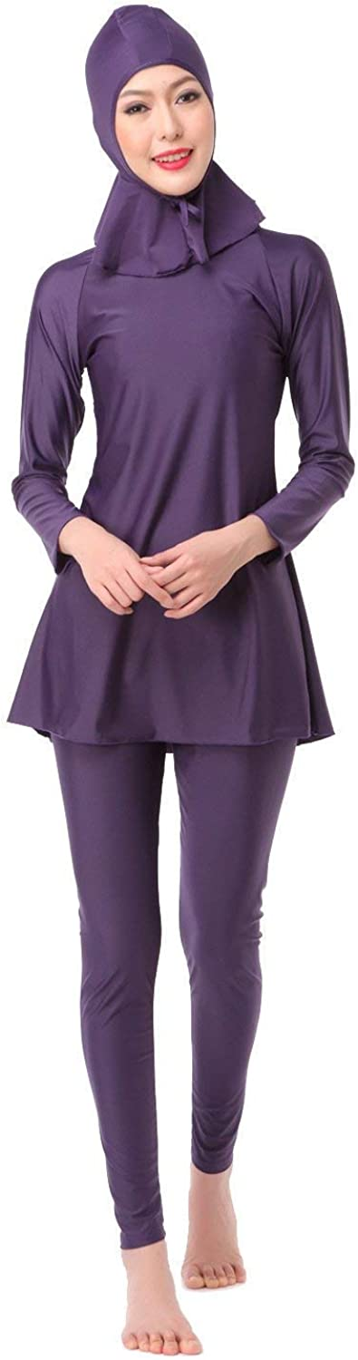 President Conservative Bathing Suit, The Hui Muslim Swimsuit, Purple,M (color   As Shown, Size   One Size)