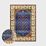 Alfombras Salon Grandes,Boho Large Size Non Slip Area Rugs Moroccan Abstract Geometric Deer Stripes Soft Ethnic Carpet Outdoor Picnic Mat Art Home Decor For Living Dining Room Bedroom Kitchen,120X18
