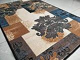 BuyElegant - Alfombras para decoración de color gris, 100% poliéster con parte trasera de látex antideslizante, fácil de limpiar, 150 x 80 cm