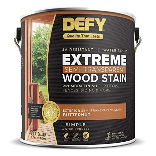 DEFY Extreme 1 Gallon Semi-Transparent Exterior Wood Stain, Butternut