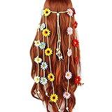 Lyguy - Diadema de Flores para Mujer, Estilo Bohemio, con diseño de Girasol, Trenzada, Ajustable, Colorida, Corona de Margaritas 5#