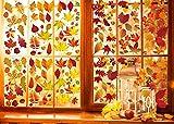 UMIPUBO - Pegatina para ventana de otoño, arce y hojas de Turquía, para ventana, otoño, Halloween, decoración (D)