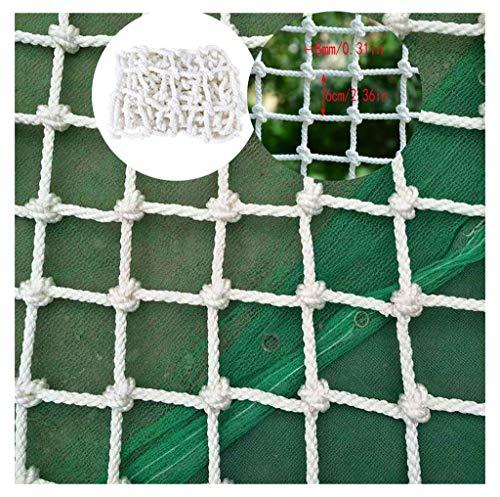 Filet de Protection Escalier, Protection des Enfants Filet Blanc Escaliers Domestiques Balcon Sécurité Filet Maternelle Décoration Net Suspension Extérieure Pont Clôture Aire De Jeux Jardin Stade