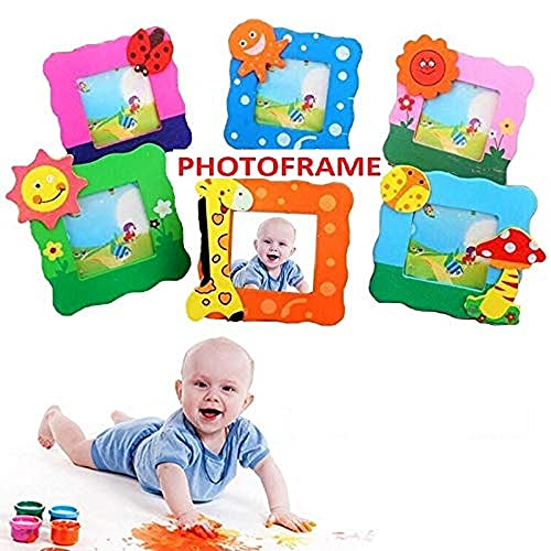 SillyMe Cute Wooden Photo Frame for Children Birthday Party Return Gift (Set of 10)