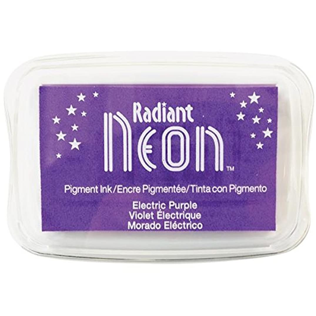 Tsukineko Radiant Neon Ink Pad, Electric Purple