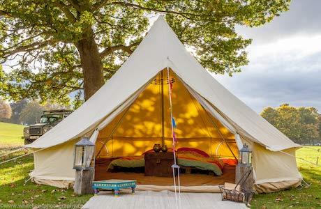 Bell Tent Boutique-Tente de 5mètres avec orifice pour un poêle