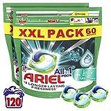 Ariel Pods todo en uno con toque de imparables detergente líquido para lavar la ropa comprimidos/cápsulas, 120 lavados (60 x 2)