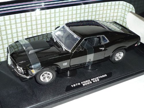 Motormax Ford Mustang 1970 Boss 429 Coupe Schwarz Oldtimer 1/18 Modellauto Modell Auto