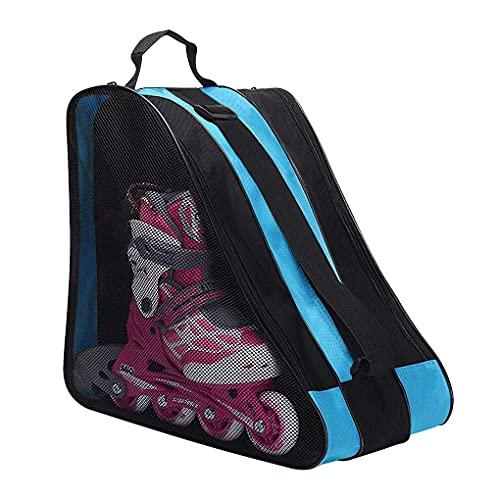 Kids Ice Skates Bags Heavy Duty Oxford Roller Skating Shoes Carry Bag Inline Skate Boot Shoulder Bag Children Boys Girls Hockey Skate Tote Ski Sport Bag Multi Pockets for Ice Skate Protective Gears