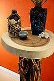 Holz Beistelltisch WAILUA - 100 x 40 cm Holz Tisch aus Suar Holz und Lianen - als Blumenständer, Telefontisch oder Stehtisch - 5