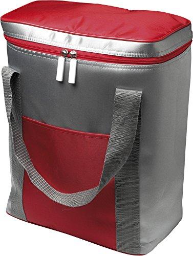 notrash2003 1 Grande Poche Isotherme-capacité : pour 6 x 1,5 l, Bouteilles, avec Fermeture éclair Cordon de Serrage 36,0 x 28,5 x 16,5 cm (Rouge)