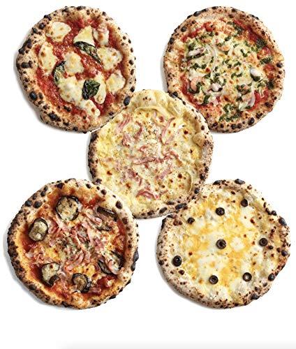 【5種類5枚セット】PIZZAREVO冷凍ピザ(約23cm)人気5種類5枚セット (極マルゲリータ+海鮮トマトバジル+カルボナーラ+茄子とベーコンのアラビアータ+厳選7種のプレミアムチーズ)手作り・窯焼き