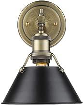 Golden Lighting 3306-BA1 AB-BLK Orwell Bath Fixture, Aged Brass