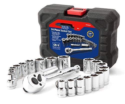 """SISHUINIANHUA 24PC-Werkzeug-Set Drehmomentschlüssel Steckschlüsselsatz 3/8"""" Ratsche Steckschlüssel"""