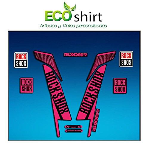 Ecoshirt EN-DZX8-E67K Aufkleber Stickers Fork Rock Shox Boxxer World Cup 2016 Am78 Aufkleber Decals Autocollants Adesivi Forcela Gabel Rockshox, Rosa