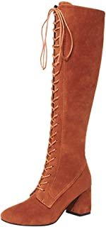 559188d43a2eb Amazon.com: Yellow - Knee-High / Boots: Clothing, Shoes & Jewelry