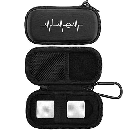YINKE Case for AliveCor kardia Mobile Heart Monitor EKG/Wireless 6-Lead EKG, Travel Case Protective Cover Storage Bag (Black)