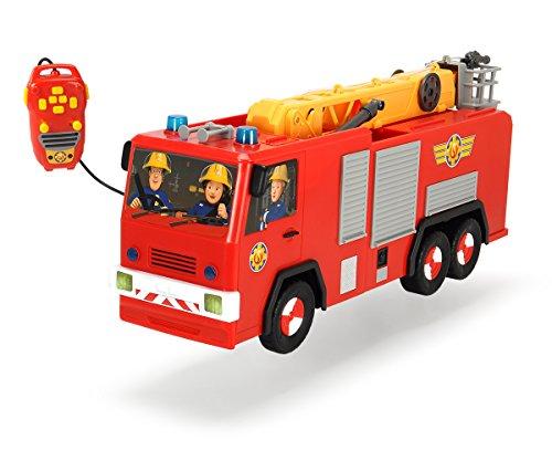 Dickie Toys 203099001 - Feuerwehrmann Sam Hero Jupiter, kabelgesteuertes Feuerwehrauto, 62 cm