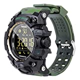 Smartwatch, Camuflaje,Bluetooth Smart Watch Pantalla Táctil,Reloj Inteligente Hombre Con Cámara, Impermeable Smartwatches Telefono Sport Fitness Tracker Compatible Android Ios Para Hombre Mujer,Verde