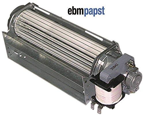 ebm-papst QLK45/1800-2518 Querstromlüfter für Kältetechnik 26W Walze ø 45mm x 180mm Motor rechts 230V 50Hz 18mm Lager Gummi