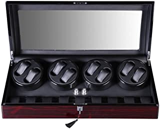 CS-SH Watch Winders Watch Winder Boxes Automatic Rotate Watch Winder Gift 8+9 Leather Storages With Quiet Motor 5 Mode Watch box Watch Box (Color : As picture, Size : One size)