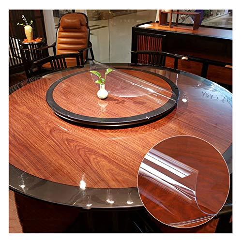 Mantel Transparente Vidrio Blando Protector Suelo Mantel Redondo De PVC 1,5 Mm, 2 Mm, 3 Mm A Prueba De Agua Y Aceite Mantel Anti-Quemaduras Que No Se Lava