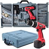 Hi-Spec 18V 800mAh Power Cordless Variable Speed Drill Driver with 89 Piece Drill & Screwdriver Bits, Sockets and Brushes for DIY, Carpentry, Repair With Carry Case