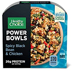 Healthy Choice Power Bowls Spicy Black Beans, Chicken & Riced Cauliflower Frozen Meal, Packed with P