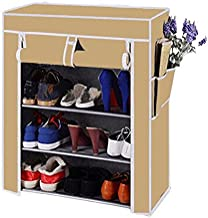 Biaba Collection 4 Layer Multipurpose Portable Folding Shoe Rack (Stor more than 12 pairs of Shoes)