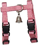Sandia Pet Products 3/8' Petite (for A Small Female Or Young Ferret) Light Pink Ferret Harness with Bell - Adjustable