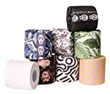 No. 2 - Bamboo Toilet Paper, Septic Safe, Strong, and Silky 3-Ply Bathroom Tissue, 24 Tree- Free Rolls per Carton, Individually Wrapped in Recycled Paper with Colorful Prints, Biodegradable TP