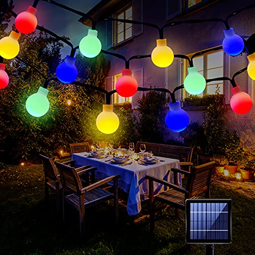 SUNNEST Solar String Lights 60 LEDs 26ft Waterproof LED Fairy Lights, 8 Modes Outdoor Solar Powered Lights, Decorative Lighting for Home, Garden, Party, Festival [Energy Class A++]