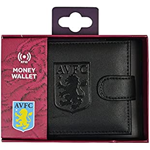 Aston Villa FC RFID Embossed Leather Wallet