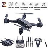 ZUOQUAN Drone Pliable avec Caméra Réglable 1080P HD, Résistant Aux Chutes Et Aux Chocs, Reconnaissance De La Prise De Vue Gestuelle, Utiliser Le Temps 20 Minutes, Remote Control Distance 100M