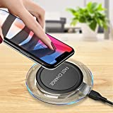 GETIHU Wireless Fast Charger Qi Phone Charging Pad QC2.0/3.0 Enabled Charge Station for Smartph…