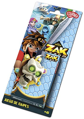 Zak Storm Zag Baraja de Cartas Infantil, Multicolor, 22x10x2cm (Naipes Heraclio Fournier 40)