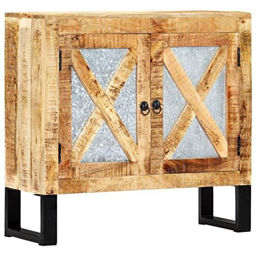 vidaXL Mango Aparador Comedor Madera Maciza Industrial Vintage Retro Diseño Rústico Mueble Buffet Salón Cocina 2 Puertas Armario Auxiliar Bufé Sala