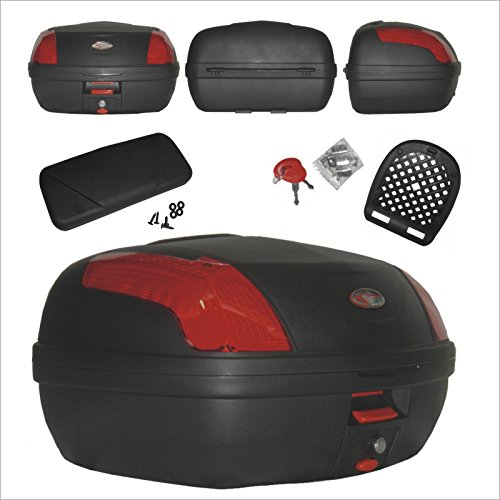 Top Case Motorrad Bremsleuchten Top Box Koffer Motorrad mit Rückenlehne