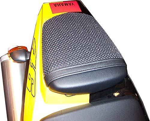 Cubierta TRIBOSEAT para Asiento Antideslizante Accesorio Personalizado Negro Compatible con Yamaha YZF...