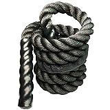 BKAUK Fitness - Cuerda de saltar pesada para crossfit y entrenamiento de artes marciales mixtas, mejora la fuerza muscular, 25 mm